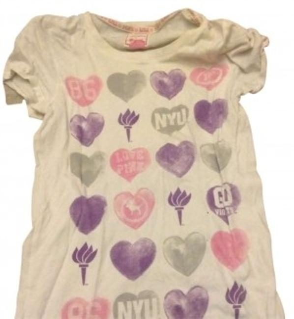 Preload https://item2.tradesy.com/images/pink-white-nyu-teen-tee-shirt-size-4-s-154431-0-0.jpg?width=400&height=650