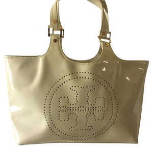 Tory Burch Tote in Eggshell With Hint Of Green