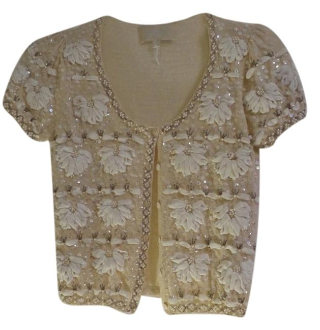 Preload https://img-static.tradesy.com/item/1544416/luisa-beccaria-cream-night-out-top-size-4-s-0-0-650-650.jpg