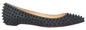 Christian Louboutin Pigalle Spiked 40 Pointed Toe Gray Flats