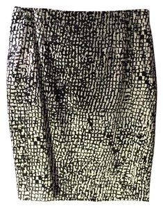 Ann Taylor Skirt Black and white pattern