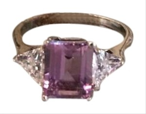 Genuine Amethyst & CZ Ring