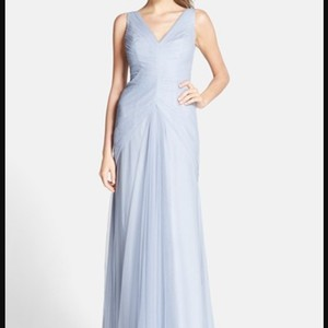 Monique Lhuillier Dusty Blue 450246 Dress