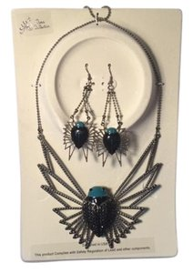 Meghan LA Meghan LA Take Flight Necklace & Dangle Earrings Set Bug Paris Collection RARE