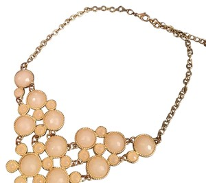 Other Pink Gold Shimmer Statement Necklace