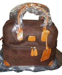 Bric's Cosmetic Tote Lifes Beauty Case Train Case Brown Travel Bag