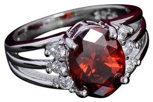 Kay Jewelers Sterling Silver Natural Garnet Ring