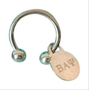 Tiffany & Co. Tiffany & Co. Sterling Silver .925 Screw on Circle Key Ring Chain w/Charm New in Box