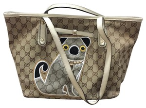 Gucci Tote in Brown/ Beige