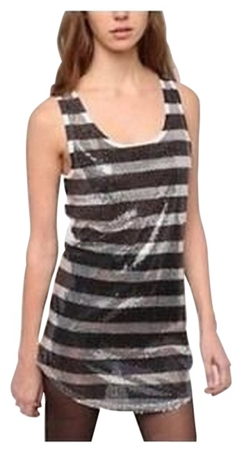 Urban Outfitters Top Black Silver