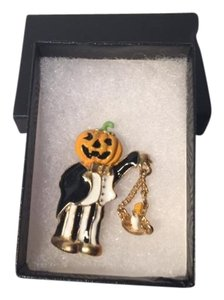 Windsor Vintage Windsor Pumpkin Head Man Swinging Candle Pin Brooch Halloween
