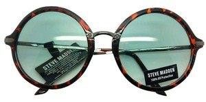 Steve Madden New Steve Madden Tortoise Retro Round Sunglasses 100% UV protection Impact Resistant Green Lenses