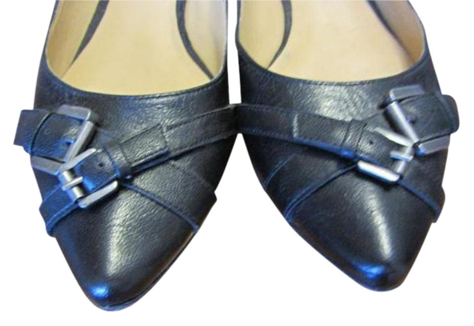 6675b7c21f69 Nine West Buckle Detailing Today s Fashion Unique Leather High Quality Black  Flats Image 0 ...