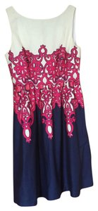 Lilly Pulitzer short dress White, navy, hot pink on Tradesy
