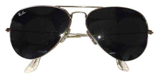 bc422f5c6a Ray-Ban Gold Large Metal Aviator Rb2025 Sunglasses - Tradesy