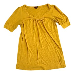 Forever 21 Flowy T Shirt Mustard yellow