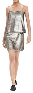 Banana Republic short dress silver Sequin Mini Chiffon Party on Tradesy