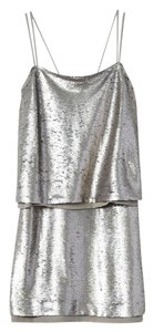 Banana Republic short dress silver Sequin Mini Chiffon Party Cocktail on Tradesy