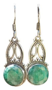 Other 925 Sterling Silver Emerald Earrings