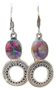 925 Sterling Silver Mystic Rainbow Quartz Earrings