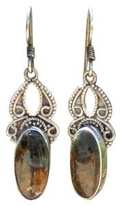 Other 925 Sterling Silver Pietersite Earrings