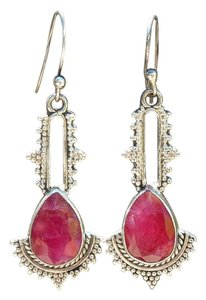 Other 925 Sterling Silver Ruby Earrings