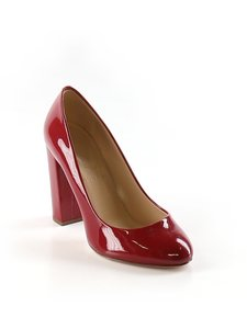 J.Crew Patent Chunky Red Pumps