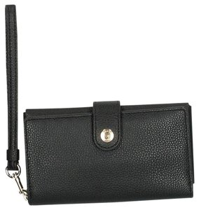 Coach Coach Pebbled Leather Black Phone Clutch Wallet Case Style 63653 MSRP $95