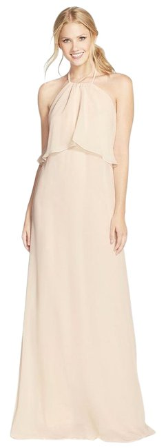 well-wreapped Amsale Sand Cait / N305 Maxi Dress - 69% Off Retail