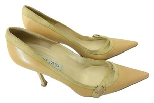 Jimmy Choo Leather Suede Tan Pumps