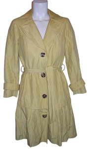 Anthracite Ruffled Belted Trench Coat