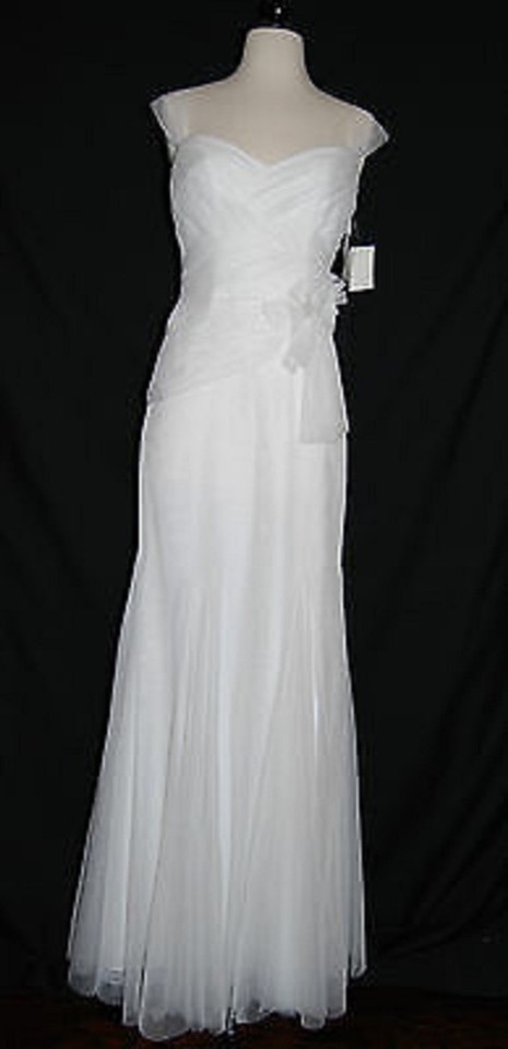 White by Vera Wang Tulle/Satin Vw351003 Vintage Wedding Dress Size 2 ...
