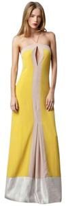 Sachin + Babi Full Length Color-blocking Halter Dress