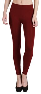 Nikibiki High Quality Red Burgundy Leggings
