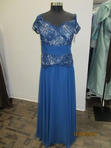 Montage Blue Willow Chiffon/Lace 113941 Mother Of Bride - (Mon-1) Formal Bridesmaid/Mob Dress Size 20 (Plus 1x)