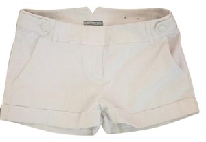 Express Cuffed Shorts Tan, white