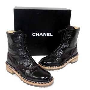 Chanel Ff Lambskin Monster Black Boots