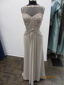Montage Taupe Chiffon 114910 Formal Bridesmaid/Mob Dress Size 12 (L)
