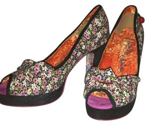 Irregular Choice Black-Multi Platforms