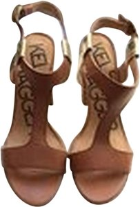 Kelsi Dagger Cognac with gold detail Sandals