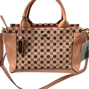 London Fog Satchel in Pink and blue