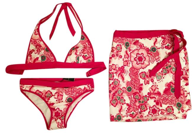 Item - Multicolor And Sarong Cover-up / M Bikini Set Size 8 (M)