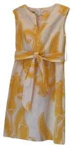Talbots short dress Yellow & White on Tradesy
