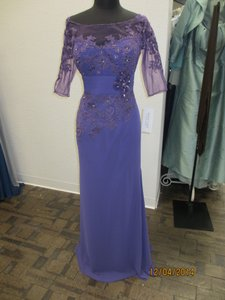 Montage Purple Chiffon 114911 Formal Bridesmaid/Mob Dress Size 16 (XL, Plus 0x)