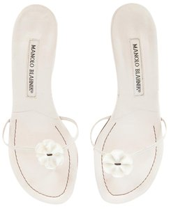 Manolo Blahnik Off White Sandals