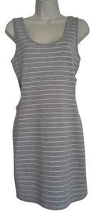Forever 21 short dress grey with white stripes Cut-out on Tradesy