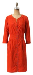 Anthropologie short dress orange Anaheim on Tradesy