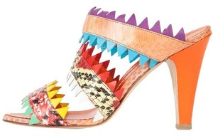 Manolo Blahnik Multi Color Sandals