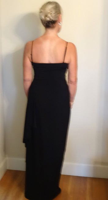 BCBGMAXAZRIA Drapped Ruched Bustand Waist Flowing Side Panel Dress