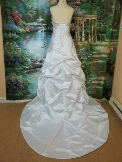 Alfred Angelo Ivory/Metallic Satin 829 Formal Wedding Dress Size 24 (Plus 2x)